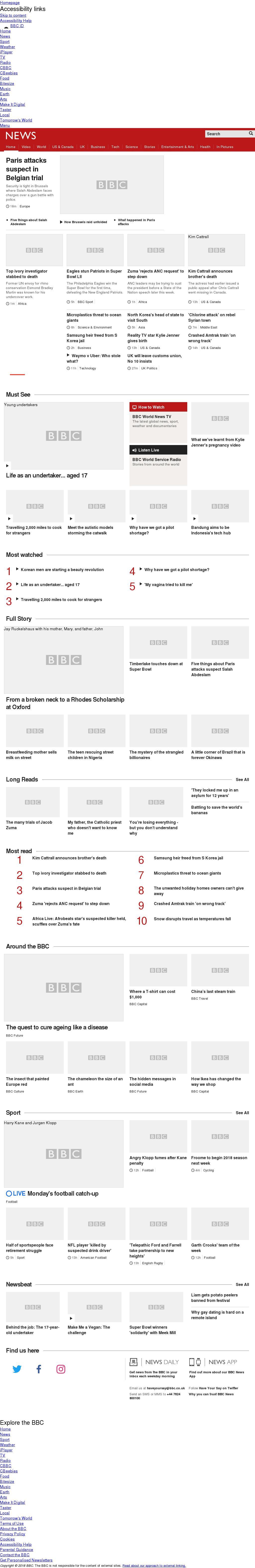 BBC at Monday Feb. 5, 2018, 11 a.m. UTC