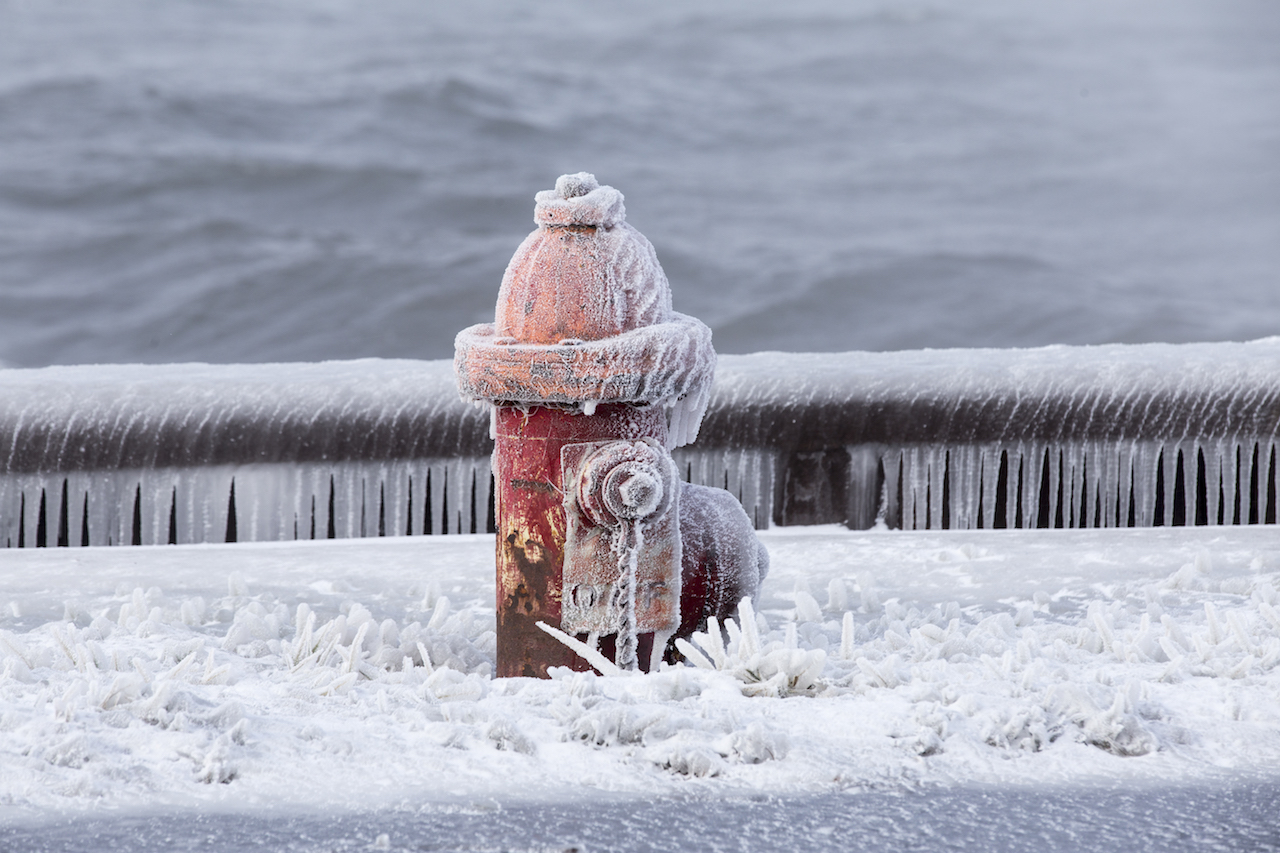 Frozen fire hydrant at Sampson (photo)